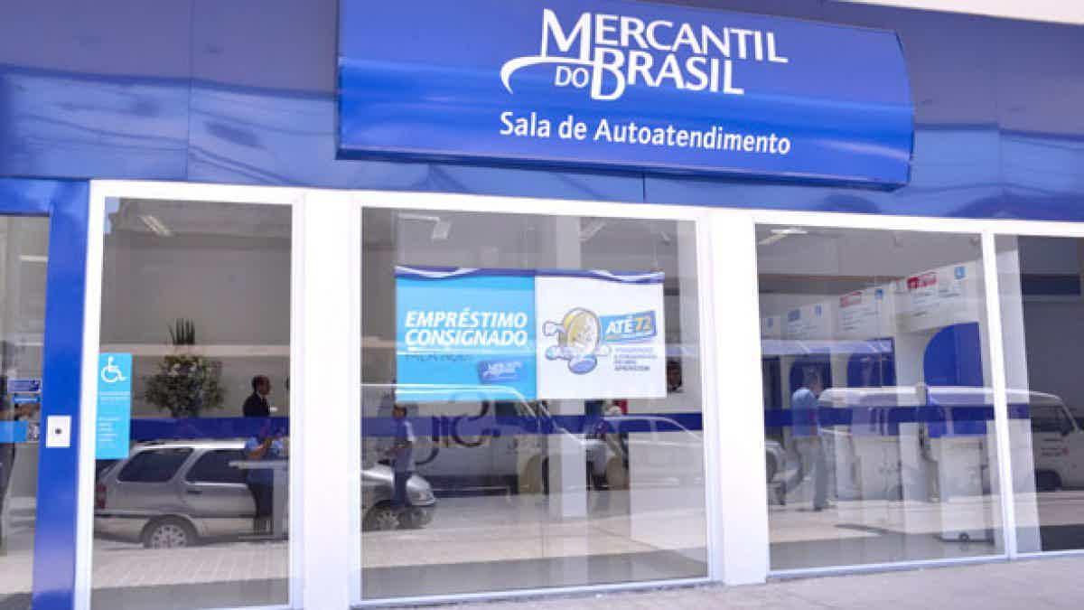 O cartão de crédito pode ser contratado em uma agência do Banco Mercantil do Brasil.