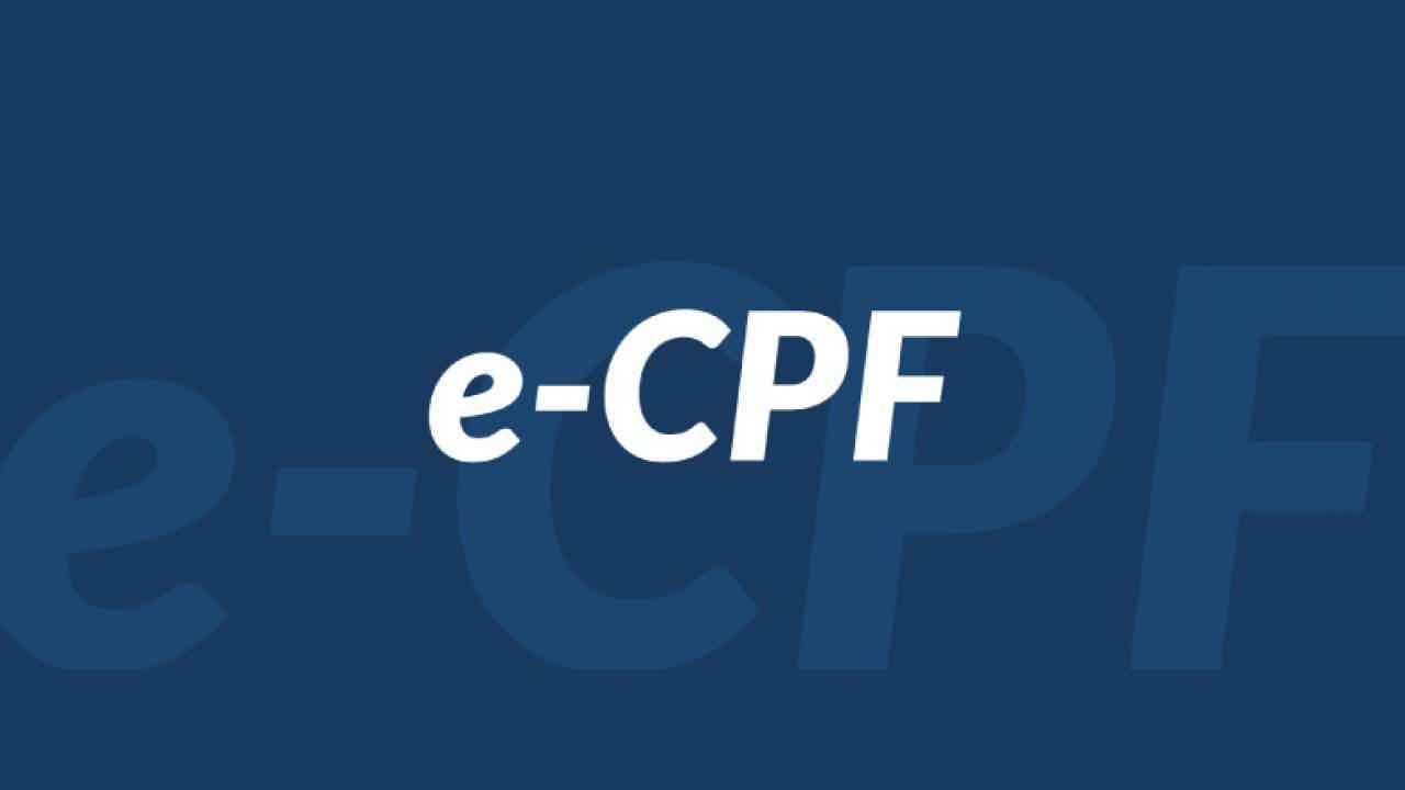 O que é o CPF digital ou e-CPF?