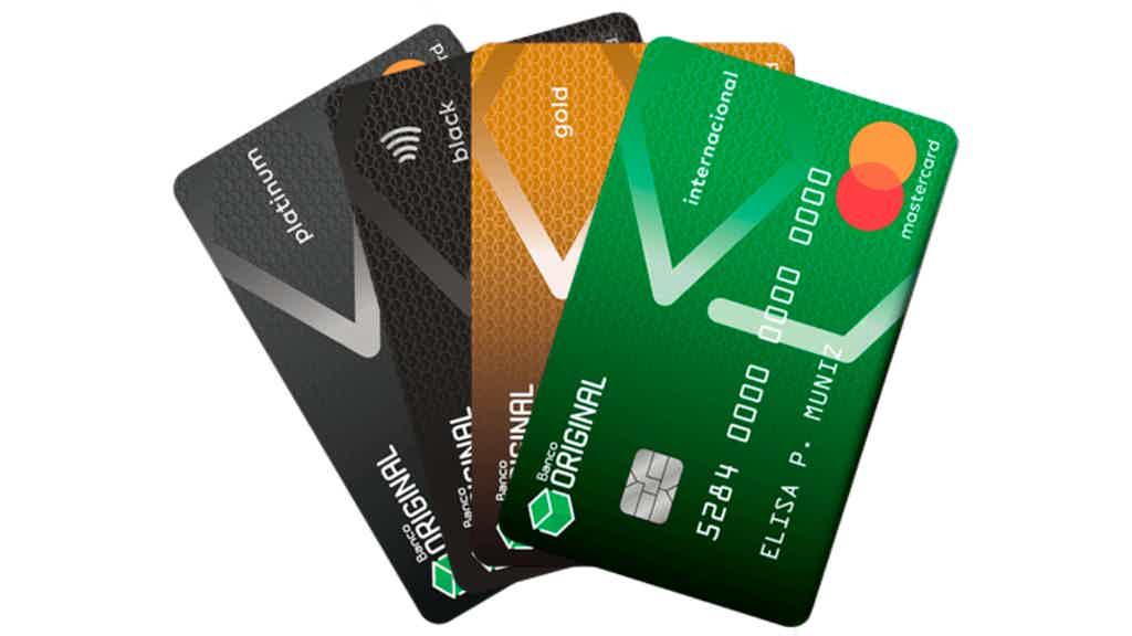 Quais os cartões de crédito do banco Original?
