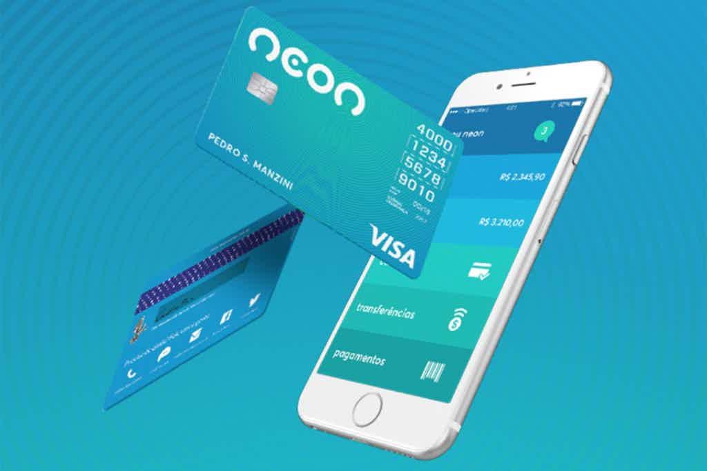 Neon, um dos melhores aplicativos de cartão de crédito