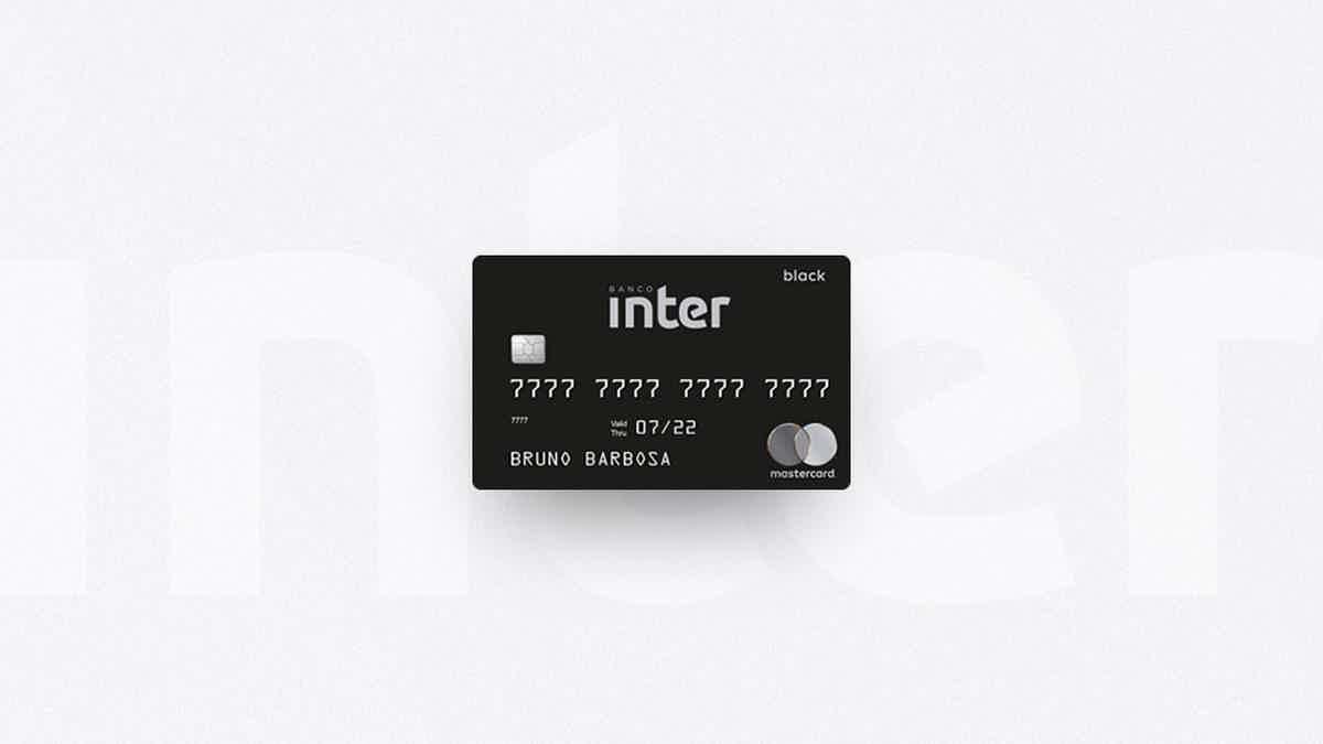 Cartão Inter Mastercard Black melhores cartões Black Friday