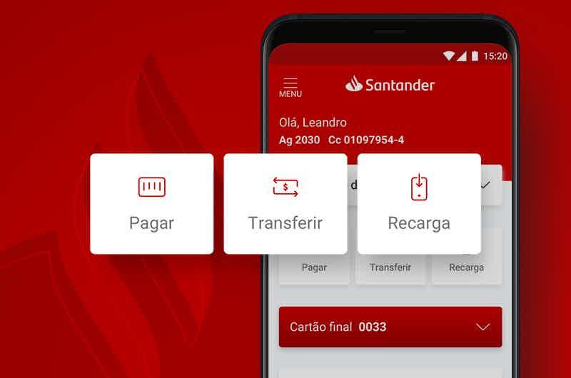 Quais os tipos de Conta Santander?