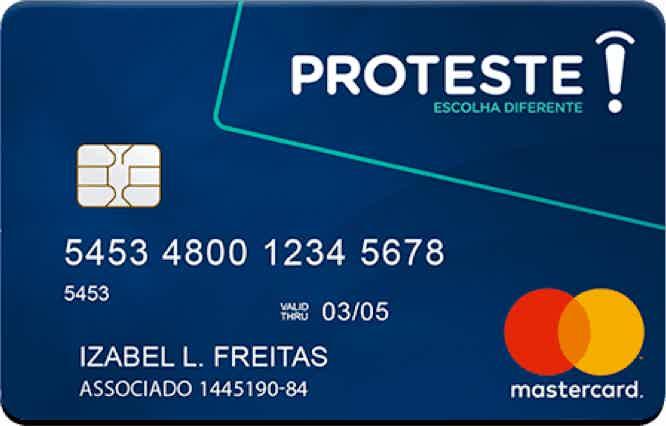 Cartão de crédito Proteste