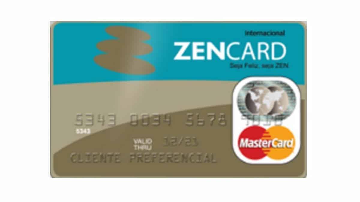 Cartão pré-pago Zencard